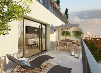 Appartement avec grande terrasse à Rueil-Malmaison, rue des Bons Raisins