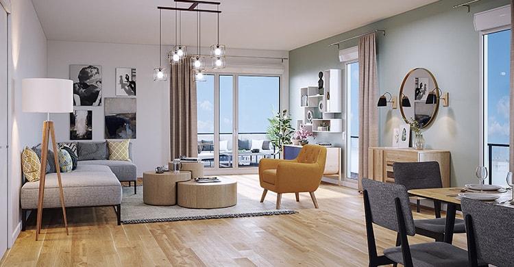 Appartement neuf avec terrasse à Asnières, résidence Trilogie