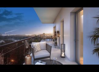 Appartement neuf à Garches, 72 Colonel Rochebrune, avec terrasse et vue Tour Eiffel