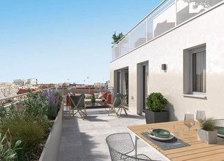 Appartement avec terrasse à vendre à Gentilly