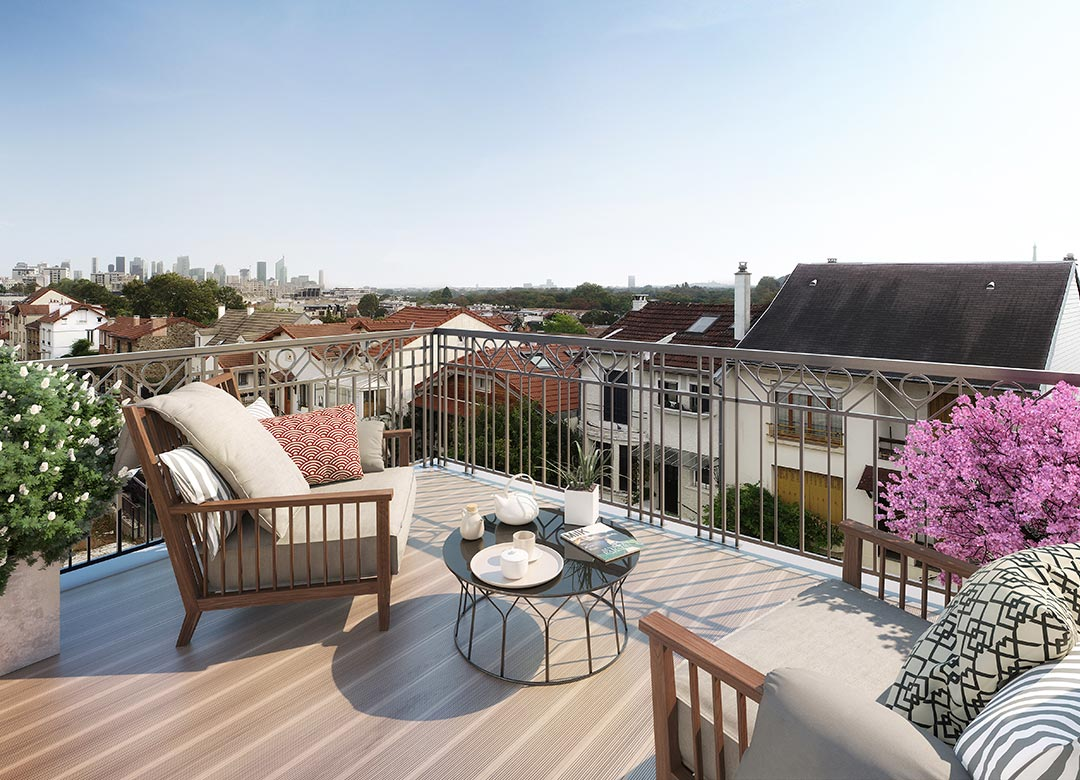 """Appartement neuf avec terrasse de la résidence """"31 rue Fernand Forest"""" à Suresnes"""