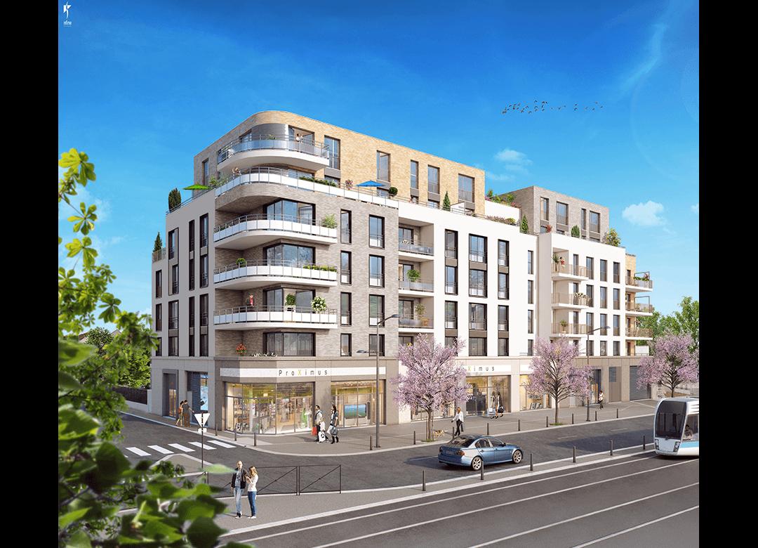 Les terrasses d aragon villejuif emerige for Architecture contemporaine