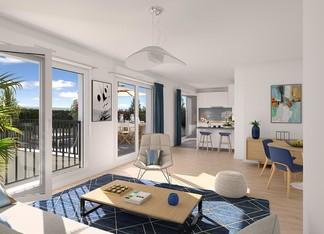 Appartement neuf avec terrasse de la résidence 4 boulevard Carnot à Alfortville