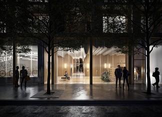 Hall de la résidence 7 rue de Tolbiac à Paris 13