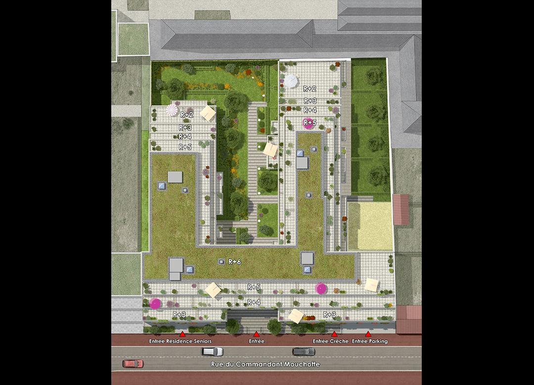 plan appartement rue du commandant mouchotte