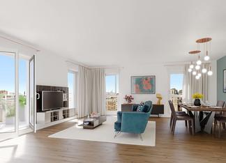 Appartement avec terrasse de la résidence neuve 21 Jean Jaurès à Gentilly