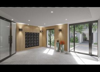 Hall de la résidence neuve Avenue Lecomte à Villiers-sur-Marne