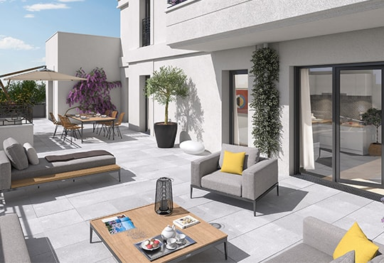 Appartement neuf avec terrasse à Saint-Ouen, ZAC des Docks